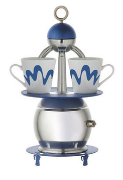 caffettiera top moka papalina blu